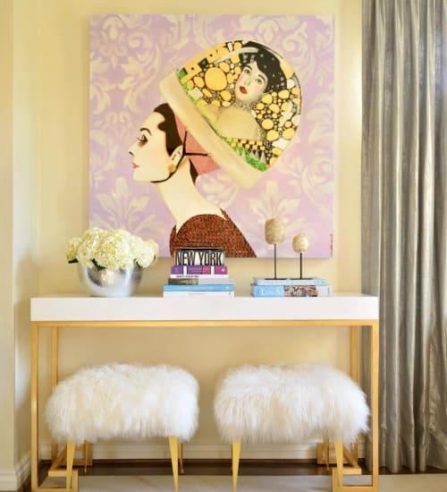 Paintings by Ashley Longshore at Private Residence, Richmond - Audrey & Klimt Pop Art