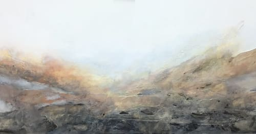 Paintings by Donna Giraud seen at Private Residence, North Vancouver - Enach