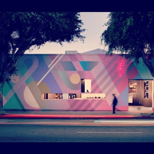 Mural | Street Murals by Teddy Kelly | Oakwood Olympic & Olive in Los Angeles