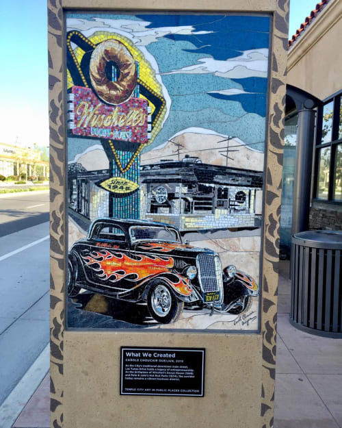 Public Mosaics by Carole Choucair Oueijan seen at Rosemead Boulevard, Temple City - What We Created