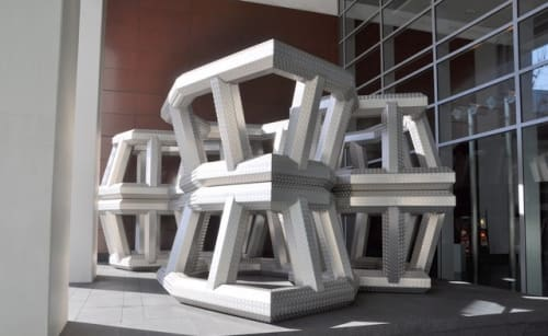 Public Sculptures by Richard Deacon seen at 500 Howard Street, San Francisco - Not Out of The Woods Yet