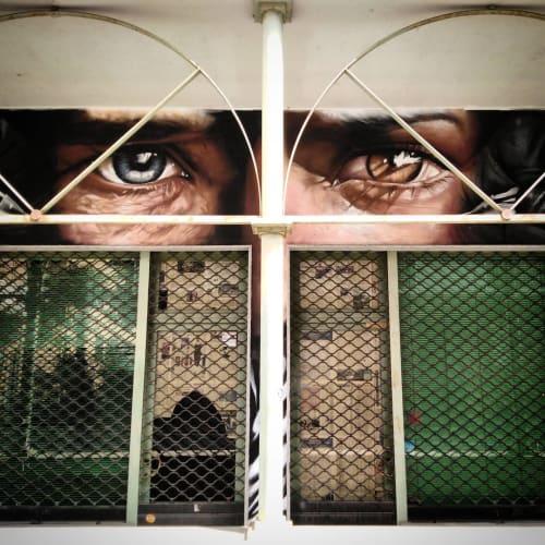 Murals by Liam Bononi seen at Think Tattoo Studio, Pinerolo - Mural