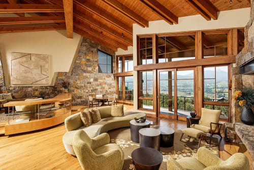 Rugs by Emma Gardner Design, LLC seen at Mountain Residence, Colorado - Spray