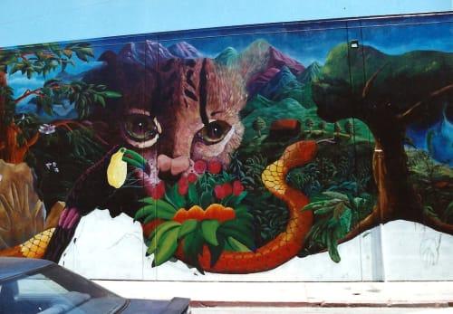 Street Murals by Deirdre Weinberg Artworks seen at Langton Street, South of Market, San Francisco - Frisco's Wild Side Cougar Pup