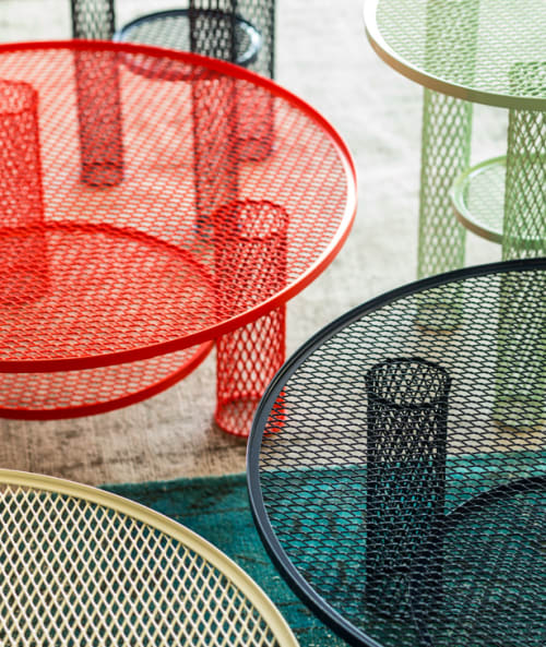 Tables by Layer by Benjamin Hubert seen at Private Studio - Net Tables