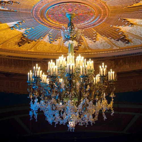 Chandeliers by Phoenix Day Lighting seen at Curran, San Francisco - Lighting Restoration