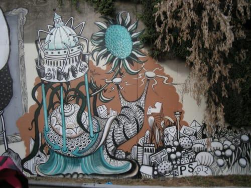 Street Murals by Paul Santoleri seen at Montreuil, Montreuil - Le Voie est Libre Festival