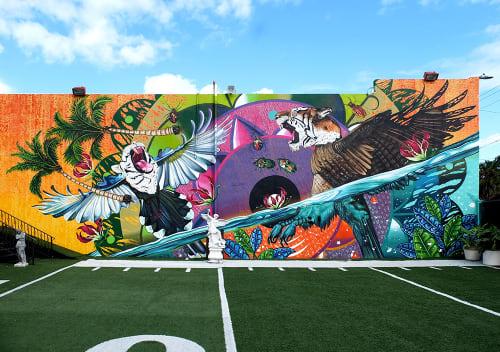 "Murals by Federico ""Iena Cruz"" Massa seen at Danieli Art World Gallery, West Palm Beach - The Rebellion of Mother Nature"