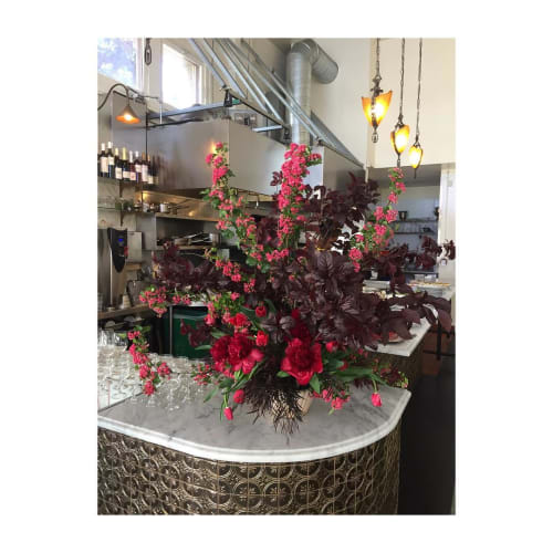 Floral Arrangements by Birch SF seen at 20th Century Café, San Francisco - Floral Arrangement