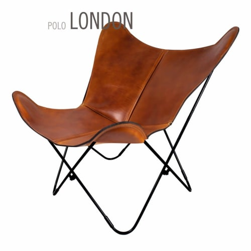Chairs by Big BKF Buenos Aires seen at Mountain Modern Motel, Jackson - Polo London Leather Butterfly Chair