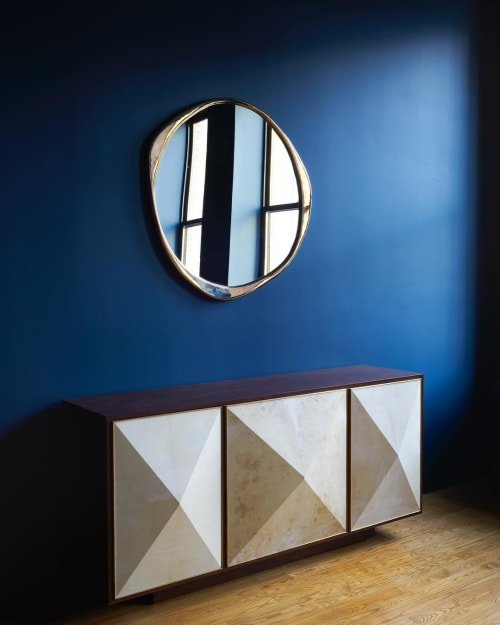 Furniture by Konekt at Konekt NYC Showroom, New York - Pyramid Sideboard and A. Cepa Mirror