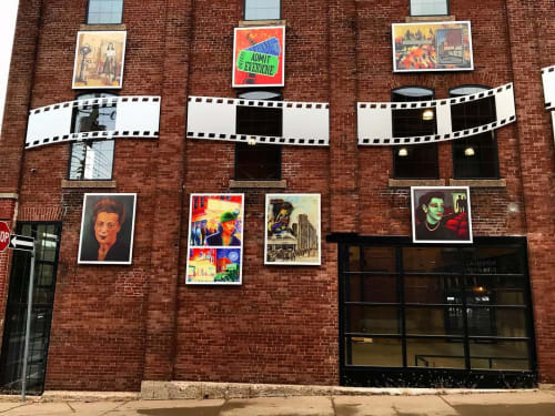 Public Sculptures by Christian Toth Art seen at Roseland Theatre, New Glasgow - Steel Sculpture Film Reel