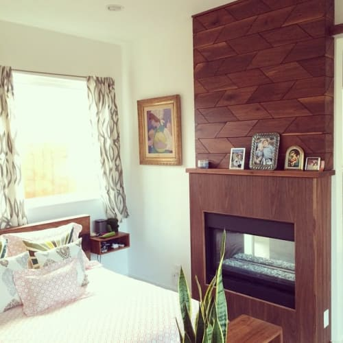 Wall Treatments by Trey Jones Studio seen at Private Residence - Walnut Woodwall