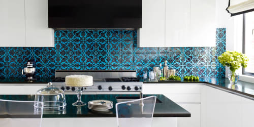 Tiles by Otto Tiles And Design seen at Private Residence, Georgetown - Hand Painted Tile
