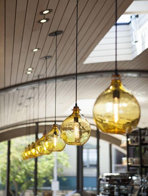 Pendants by Cisco Brothers seen at Barrel House Tavern, Sausalito - Jug Lamp