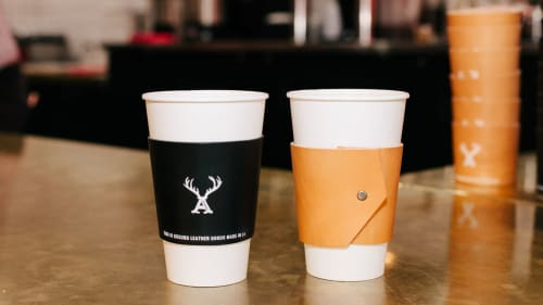 Apparel & Accessories by This Is Ground at Alfred Coffee (In The Alley), West Hollywood - Leather Cup Sleeves