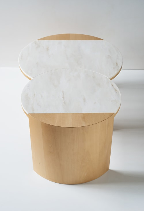 Tables by Robert Sukrachand seen at Café Integral, New York - Gibbous Coffee Table