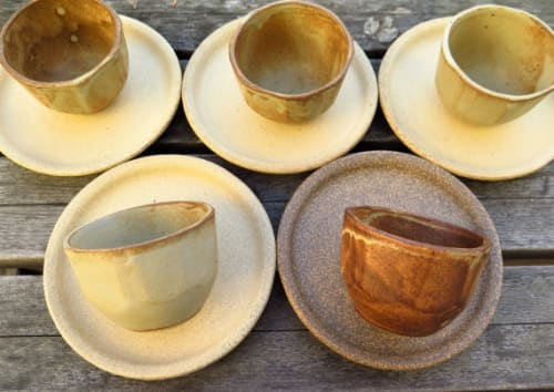 Tableware by Sven Ceramics at Four Barrel Coffee, San Francisco - Cappucino Cup and Saucers