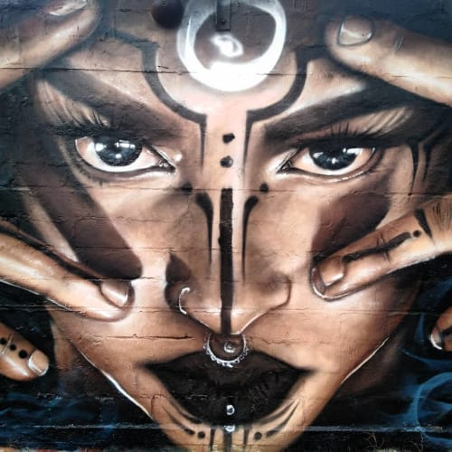 Street Murals by Liam Bononi seen at Snösätravägen - Mural