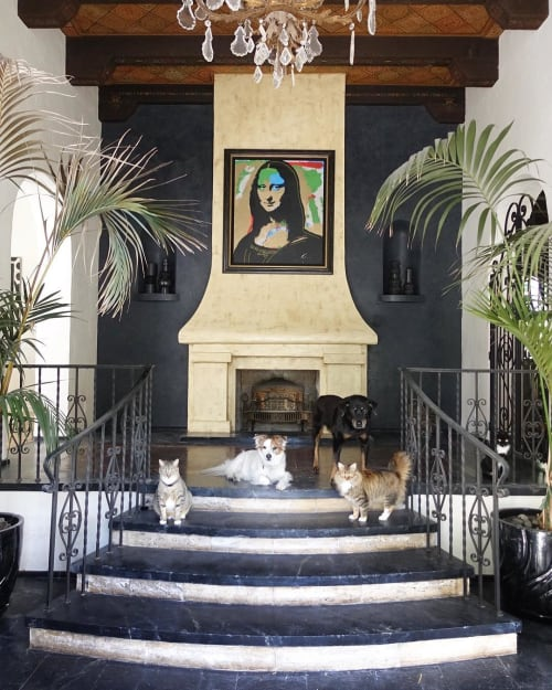 Art & Wall Decor by Sharlene Kayne (Skayne Designs) seen at Private Residence, Los Angeles - Monalisa