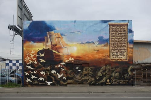Street Murals by Vogue TDK seen at 12th St and 22nd Avenue, Oakland, Oakland - Ghost Ship
