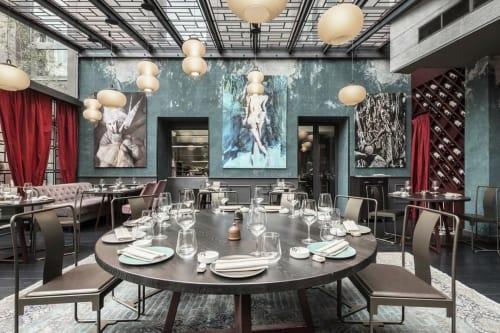 Lamps by Denis Guidone seen at Kowa Restaurant, Milano - Kanji Lamps