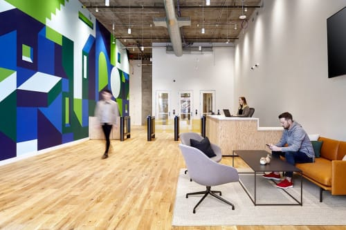 Murals by Olivier Charland seen at 401 San Antonio Rd, Mountain View - WeWork Mural