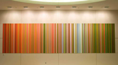 Paintings by John Holt Smith seen at Dallas/Fort Worth International Airport (DFW), DFW Airport - Limerock Sequence