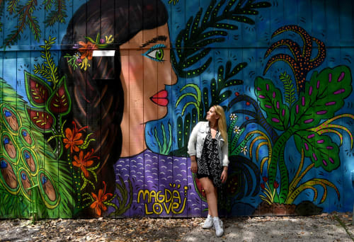 Street Murals by Magda Love seen at Flamingo Gardens, Davie - Surrounded by Gardens
