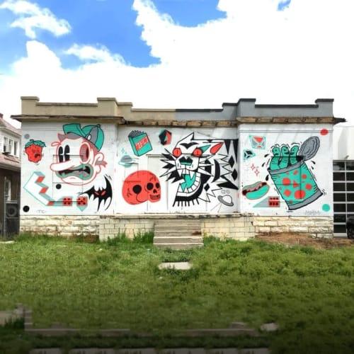 Street Murals by Trent Call seen at Laziz Kitchen, Salt Lake City - Mural