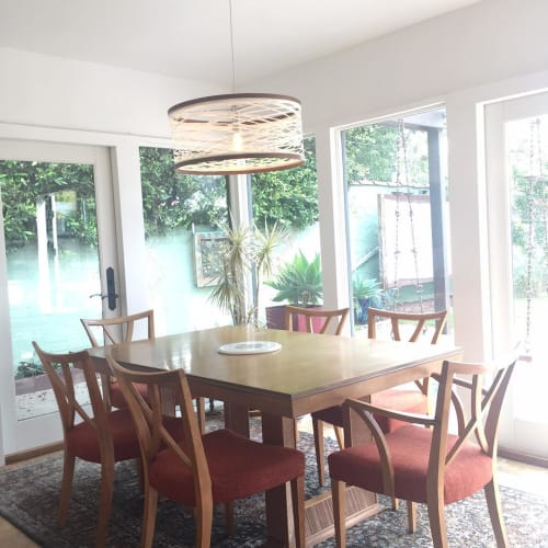 Pendants by Papay Designs seen at Private Residence, Santa Monica - Sinuous Lighting