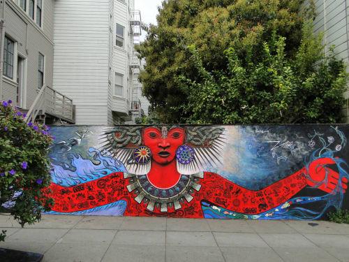 Street Murals by Colette Crutcher seen at 3498 16th St, San Francisco, San Francisco - Tonantsin Renace
