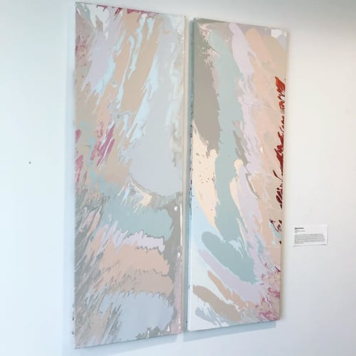 Paintings by Elena Johnston seen at Private Residence, Houston - Twins