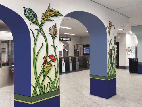 Public Mosaics by bachor seen at Thorndale Red Line Station, Chicago, Chicago - Thrive
