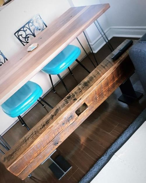 Tables by Caveman Build & Supply Co. seen at Private Residence, Toronto - Walnut Table