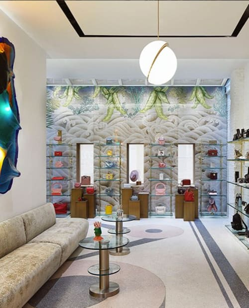 Art & Wall Decor by Miriam Ellner seen at The Webster, SOHO, New York - Eglomise Glass Wall