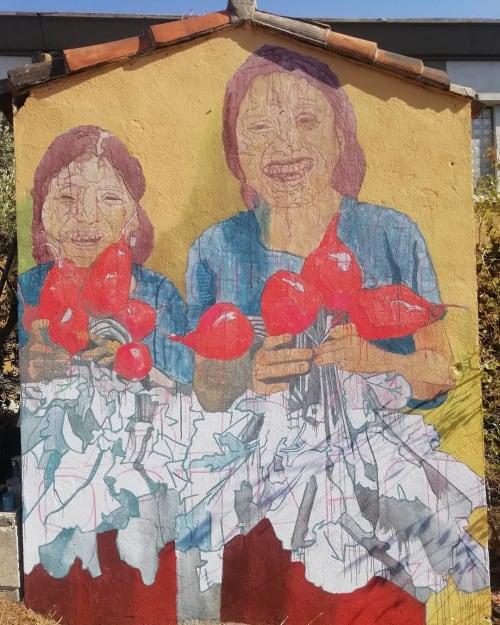 Murals by OCM Vibration seen at Atelier Juxtapoz, Marseille - La Recolte