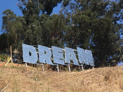 Public Sculptures by Ana Teresa Fernandez seen at Bernal Heights, San Francisco - DREAM