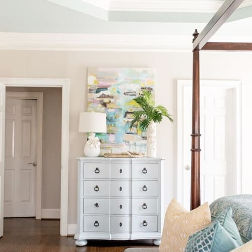 Paintings by Marquin Designs seen at Private Residence, Greenville - Serene
