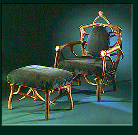 Chairs by Crystal Farm seen at The Clift, San Francisco - Elk Gentleman's Chair
