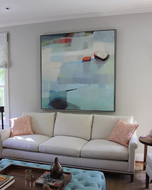 Paintings by Sharon Paster at Private Residence, Sausalito - Meditation
