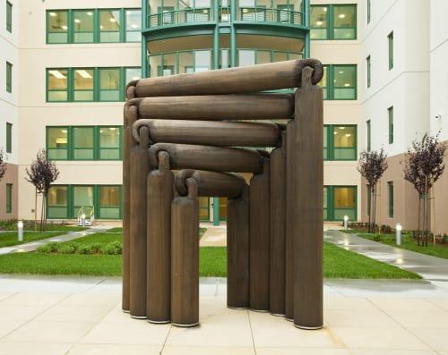 Sculptures by Louise Bertelsen seen at Laguna Honda Hospital and Rehabilitation Center, San Francisco - NEVERODDOREVEN