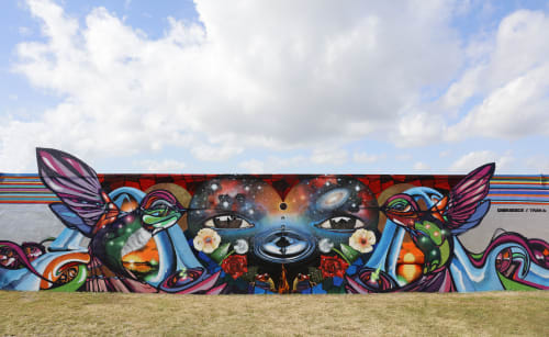 Street Murals by Chor Boogie seen at Wynwood Art District, Miami - Love Your Momma