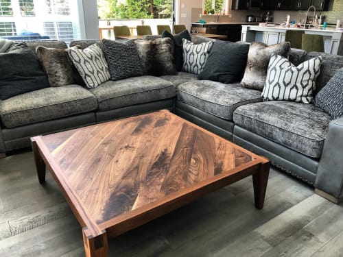 Tables by Aspens Woodworks seen at Private Residence, Vancouver - Walnut Coffee Table