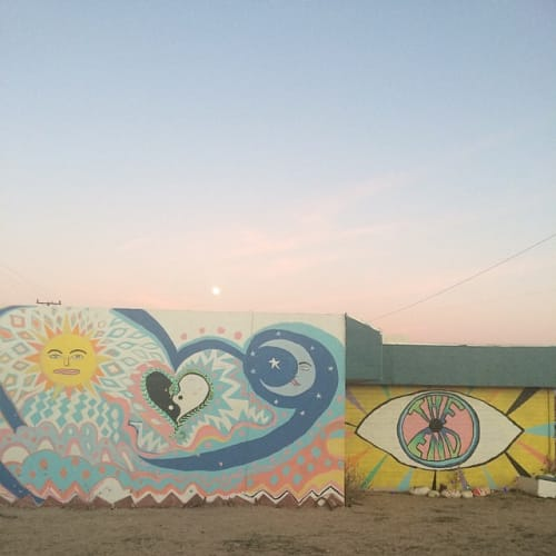 Murals by Elena Stonaker seen at The End, Yucca Valley - The End Mural