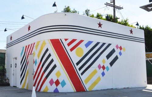 Street Murals by Teddy Kelly seen at Full Service Coffee Co., Los Angeles - Mural