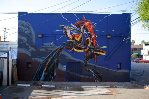 Murals by Aaron Noble seen at The Faculty, Los Angeles - Mojado
