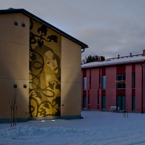 """Murals by Maria Mughal seen at Joensuu, Joensuu - """"Sisters"""""""