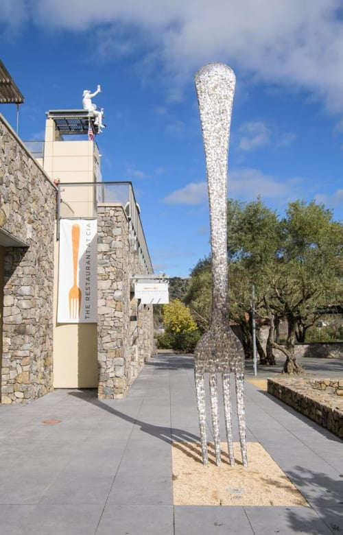 Sculptures by Gordon Huether Studio seen at CIA at Copia (The Culinary Institute of America), Napa - Fork