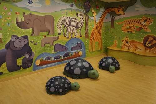 Sculptures by Cowpainters seen at Ann & Robert H. Lurie Children's Hospital of Chicago, Chicago - Turtles